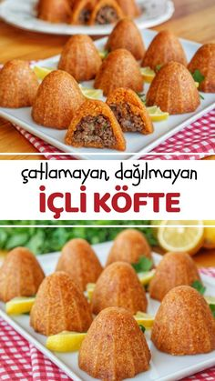 İçli Köfte (For those who cant make the mold) (with vide Lebensmittel Videolu Tarif Breakfast Recipes, Snack Recipes, Cooking Recipes, Yummy Recipes, Iraqi Cuisine, Thanksgiving Snacks, B Food, Turkish Recipes, Galette