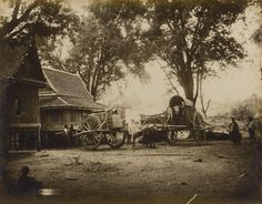 Unknown photographer 'Photograph taken in an around Bangkok and Koh Si Chang' 1880s-1890s Albumen print 215 x 275mm On loose card mount, recto and verso, captioned in English in ink on the mounts, occasional captions in Thai in pencil
