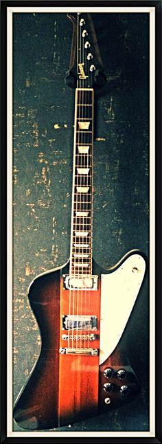 """Gibson Firebird 1997 ( -M- #Mon Ego; #Monde Virtuelle et #En tête à tête, Guitare de -M- pendant sa tournée """"En tête à tête"""" )"""