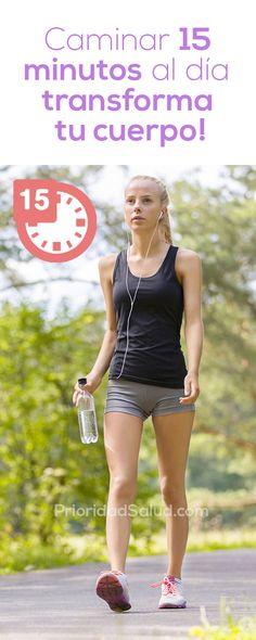 Descubre los beneficios de caminar solo 15 minutos al día. Este ejercicio de bajo impacto puede transformar tu cuerpo.