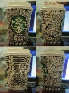 starbucks cup doodle #1