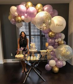 Balloon Garland Balloons Birthday Parties Birthday Girl Birthday New Years Party Baby Shower Eid Decorations Birthdays Birthday Balloon Decorations, Birthday Balloons, Baby Shower Decorations, 18th Birthday Party, Girl Birthday, Balloon Garland, Bella, Graduation, Face Reveal