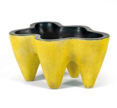 George Jouve, Glazed Ceramic Molar Vessel, 1953.