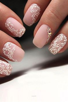 Outstanding Perfect Pink And White Nails For Brides See more: www.weddingforwar… The post Perfect Pink And White Nails For Brides ❤ See more: www.weddingforwar… appeared first on Nails . Wedding Manicure, Wedding Nails For Bride, Bride Nails, Wedding Nails Design, Prom Nails, Pink Wedding Nails, Simple Wedding Nails, Bridal Nails Designs, Bridal Nail Art