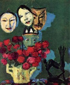 Masks and Dahlias - Emil Nolde