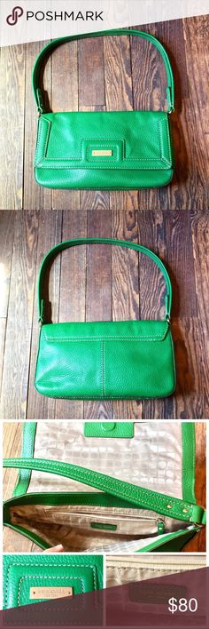 Vintage Kate Spade Purse This design was from over 10 years ago. In great condition! Bright grass green! Only used a few times. kate spade Bags Shoulder Bags