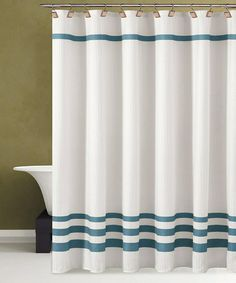 Take a look at this White & Blue Bleecker Shower Curtain by Duck River Textile on #zulily today!
