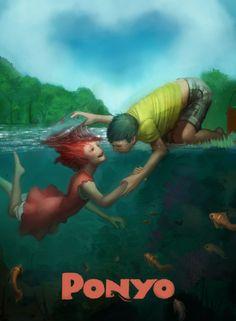 I love this art of Ponyo! | Ponyo Created by Gavin Mackey