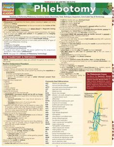Phlebotomy list of things to study at university