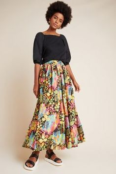 Cyrene Maxi Skirt by Mynah Designs in Assorted Size: Xl, Women's Skirts at Anthropologie Informations About Cyrene Maxi Skirt by Mynah Designs in Assorted Size: Xs, Women's Skirts at Anthropologie Pin 1940s Dresses, Vintage Dresses, Vintage Outfits, Lace Dresses, Vintage Clothing, Western Outfits, Skirt Outfits, Indian Dresses, Affordable Fashion