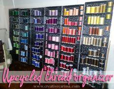 Upcycled Thread Organizer