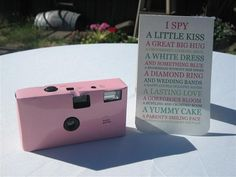 I SPY- Wedding camera game 10 pack. $3.50, via Etsy.