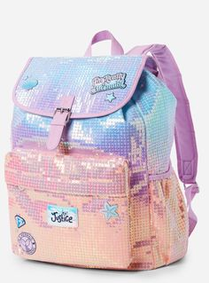 """title=""""Back to school supplies""""> Back to school supplies – Just Trendy Girls. Justice Backpacks, Justice Bags, Justice Stuff, Shop Justice, Justice School Supplies, Cute School Supplies, Cute Backpacks, Girl Backpacks, My Bags"""