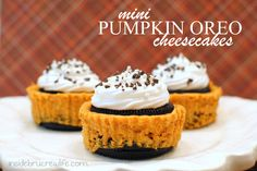 Pumpkin Oreo Cheesecakes