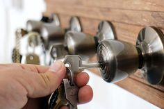 Repurposed Door Knob Hooks