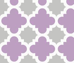 burst lavender and grey fabric by mytinystar on Spoonflower - custom fabric