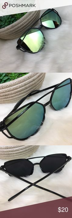 •Sunnies• Cat Eye Retro Sunglasses Black Green UV RSSELDN 2016 New Cat Eye Sunglasses Women Brand Designer Fashion Sun Glasses Sunnies Women UV400. Oculos De Sol VINTAGE Look. Black frames with green lenses. Very popular!!  💖 Brand New Item 🌸 Smoke Free Home 🛍 Mailed Same Day 💗 Love my PFF's!! Accessories Sunglasses