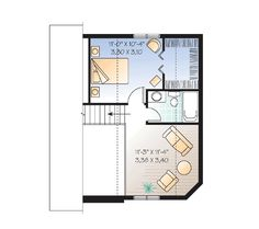 Cozy Cottage Hideaway - 22371DR | Cottage, Vacation, Canadian, Metric, Narrow Lot, 2nd Floor Master Suite, CAD Available, PDF | Architectural Designs