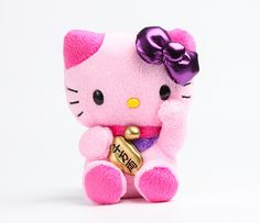 maneki neko!  Hello Kitty Mascot Plush: Pink Lucky Cat