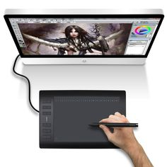 http://www.newegg.com/Product/Product.aspx?Item=9SIA2SZ2041629&cm_re=huion-_-9SIA2SZ2041629-_-Product #Huion 1060Pro #profesional drawing #compatible with Mac and Windows #express keys #SD card #memory feature #rechargeable pen #PS #Manga Studio  @digitalartsmag