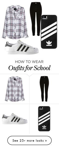 """""""a school day"""" by art-fashion on Polyvore featuring Rails, River Island and adidas"""