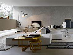 Clean parede com efeito de cimento queimado