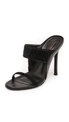 Schutz Odelia Haircalf Mules Shopbop.com