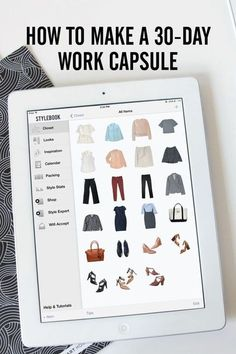 How to create a capsule wardrobe of 30 work outfits from 23 clothing items using Stylebook
