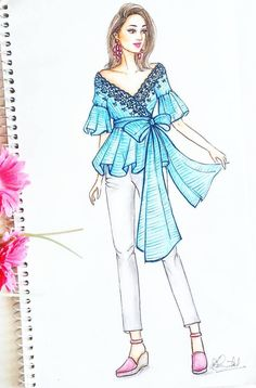 Fashion ilustration inspiration behance 37 super ideas - From Parts Unknown Dress Design Drawing, Dress Design Sketches, Fashion Design Sketchbook, Dress Drawing, Fashion Design Drawings, Fashion Sketches, Dress Illustration, Fashion Illustration Dresses, Fashion Illustrations