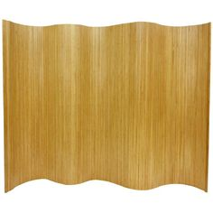 6 ft. Tall Bamboo Wave Screen - OrientalFurniture.com