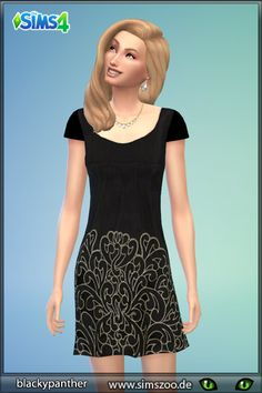 Dress 20 by Blackypanther at Blacky's Sims Zoo via Sims 4 Updates