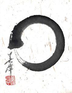 Beautiful enso calligraphy by Michiko Imai.