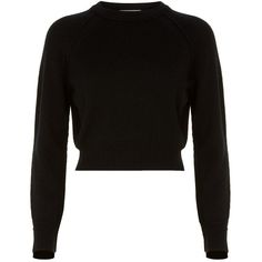 c3c32b084daa4 Helmut Lang Cropped Cashmere Sweater found on Polyvore featuring polyvore