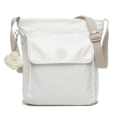 Machida Cross Body Bag In Pearlized White Kipling Kiplingsweeps Handbags