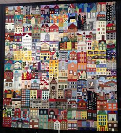 Berne House Quilt  by the members of the Bernese Quilters of Berne, Switzerland