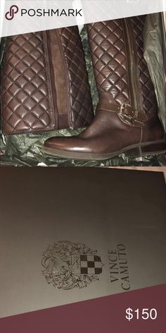 Vince Camuto Boots Size 7 Style: VC- Fredrica, Color: Fudge, Material: Nappa Angel Size: 7 Vince Camuto Shoes Combat & Moto Boots