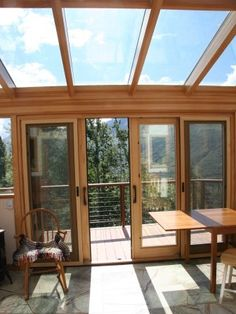 Sunroom Design-sliding doors