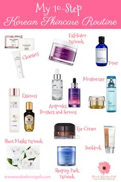 10 Step Korean Skin Care Routine - Real Advice Gal Do you have a skincare routine? If you want to delay wrinkles and skin aging make sure to give your skin some TLC. Have a better and glowing skin, check out my Korean Skincare Routine. Skin Care Regimen, Skin Care Tips, 10 Step Korean Skin Care, Farmasi Cosmetics, Natural Hair Mask, Natural Skin, Natural Beauty, Skin Care Routine For 20s, Korean Skincare Routine