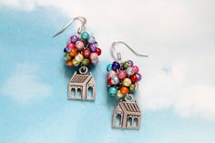 HOW CUTE ARE THESE!? Flying House Earrings (Inspired by Up). $14.00, via Etsy.