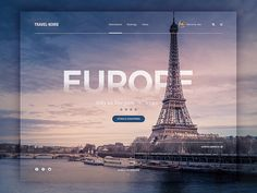 Web Design - Travel Page Concept : Web Design - Travel Page Concept Rebounded this great shot as inspiration to make up a concept travel web page for Travel Noire. Web And App Design, Homepage Design, Web Design Tips, Design Blog, Brochure Design, History Channel, Layout Design, Web Layout, Website Design Inspiration