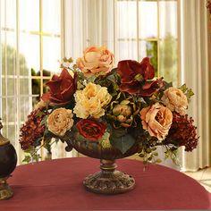 288 best silk flower arrangements images on pinterest in 2018 silk silk flower centerpiece with magnolias and hydrangea ar339 is silk flower arrangement will add elegance mightylinksfo