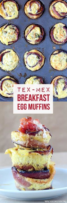 An easy breakfast muffin recipe with eggs, bacon, cheese, and simple Tex-Mex ingredients like avocado and green chiles. Baked egg cups are a yummy, healthy, and affordable on the go breakfast that you can make the day before and reheat for quick meals all week long. {grain-free, gluten-free & low-carb} #sponsored #savealotinsiders