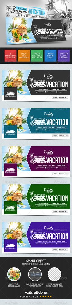Luxury Vacation Facebook Cover page Template PSD | Buy and Download: http://graphicriver.net/item/luxury-vacation-facebook-cover-page/7717969?WT.ac=category_thumb&WT.z_author=doto&ref=ksioks