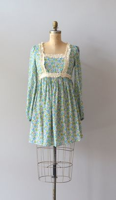 cotton 1960s dress / 60s floral babydoll dress / by DearGolden, $88.00