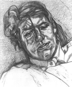 Lucian Freud - Bella -1987. Etching on BFK Rives White paper