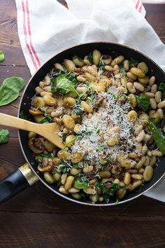One Pan Gnocchi With Sundried Tomatoes and White Beans, a one-pan, 30 minute vegetarian dinner recipe