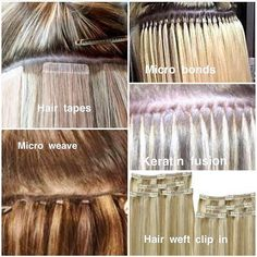 Everything You Ever Wanted to Know About Hair Extensions METHODS UBEAUTI USE. The Top Methods Fusion Keratin (or Bonded) Hair Extensions (like Great Lengths our premium choice). Individual keratin-tipped strands are fused to your natural hair using cold Permanent Hair Extensions, Bonded Hair Extensions, Hair Extensions Tutorial, Types Of Hair Extensions, Hair Extensions Before And After, Hair Extensions For Short Hair, Keratin Extensions, Micro Bead Hair Extensions, Fusion Extensions