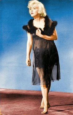 Some like it Hot publicity photo. Marilyn Monroe in Colour - also on facebook