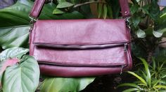 Maroon  Leather bags