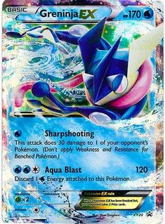 Pokemon Greninja EX XY20 Holofoil Promo Card FROM 2014 Tin (XY-20)